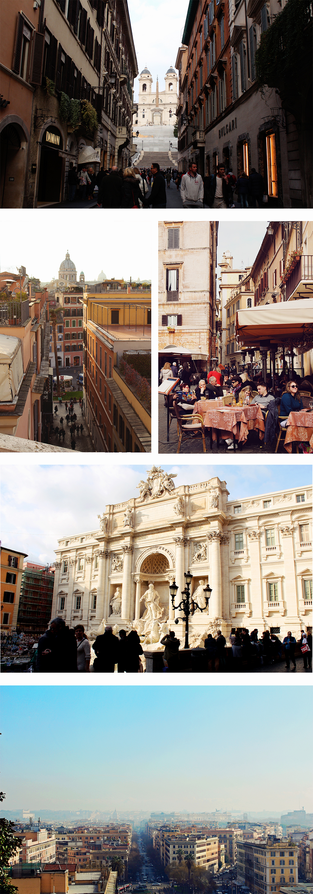 Views and Landmarks across Rome, Italy