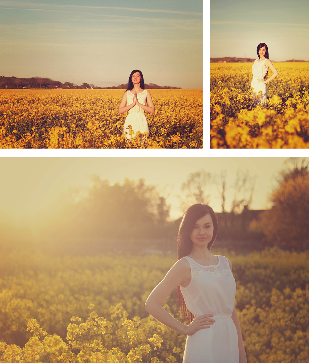 Photoshoot at sunset